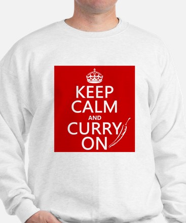 Keep Calm and Curry On Sweatshirt
