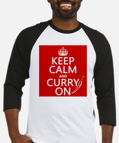 Keep Calm and Curry On Baseball Jersey