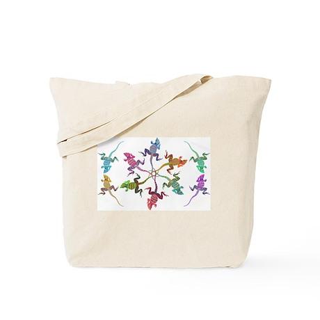 Lizard Oval Tote Bag