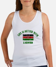 Life is better with a Kenyan Women's Tank Top