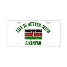 Life is better with a Kenyan Aluminum License Plat