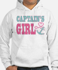Captains Girl Boat Anchor and Heart Hoodie