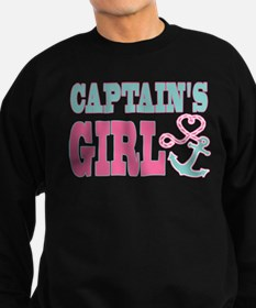 Captains Girl Boat Anchor and Heart Sweatshirt