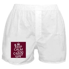 Keep Calm and Drink Eggnog Boxer Shorts