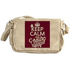 Keep Calm and Drink Eggnog Messenger Bag