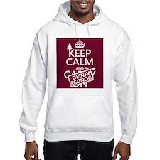 Keep Calm and Drink Eggnog Hoodie