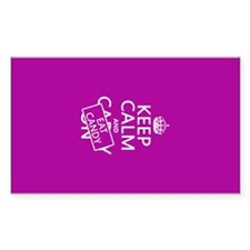 Keep Calm and Eat Candy Decal