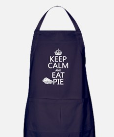 Keep Calm and Eat Pie Apron (dark)