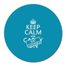 Keep Calm and Eat Cookies Round Car Magnet