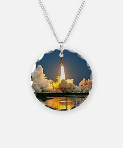 Cape Canaveral Launch Pad Necklace Circle Charm