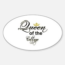 Queen of the Cottage Section Thumb Decal