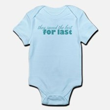 best for last teal Body Suit