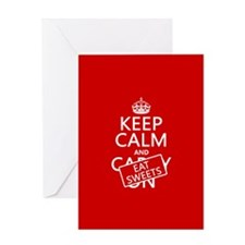 Keep Calm and Eat Sweets Greeting Card