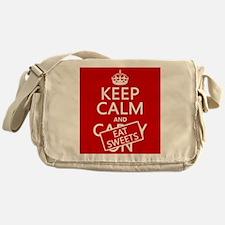 Keep Calm and Eat Sweets Messenger Bag