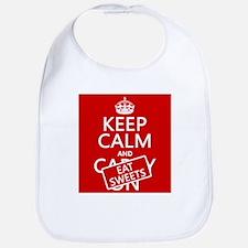 Keep Calm and Eat Sweets Bib