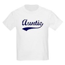 Vintage (Blue) Auntie Kids T-Shirt