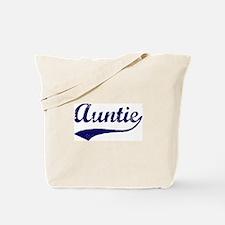 Vintage (Blue) Auntie Tote Bag