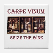 Carpe Vinum -Seize the Wine Tile Coaster