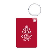Keep Calm and Have A Donut Keychains