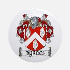 Byrnes Coat of Arms Ornament (Round)