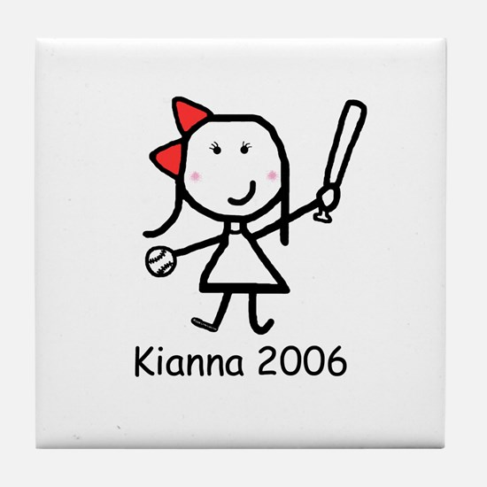 Softball - Kianna Tile Coaster
