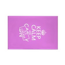 Keep Calm and Ice Cream Rectangle Magnet