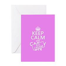 Keep Calm and Ice Cream Greeting Card
