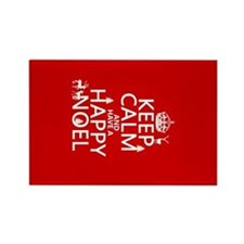 Keep Calm and Happy Noel Rectangle Magnet
