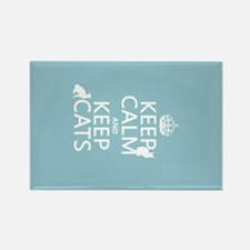 Keep Calm and Keep Cats Rectangle Magnet