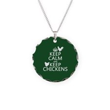 Keep Calm and Keep Chickens Necklace