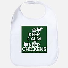 Keep Calm and Keep Chickens Bib