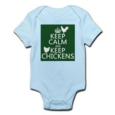 Keep Calm and Keep Chickens Infant Bodysuit