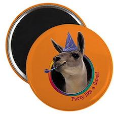 "Llama Birthday 2.25"" Magnet (10 pack)"