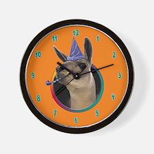 Llama Birthday Wall Clock