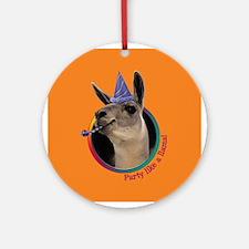 Llama Birthday Ornament (Round)