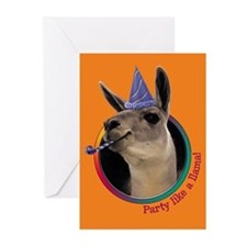 Llama Birthday Party Invitations (6)