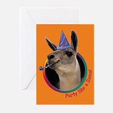 Llama Birthday Party Invitations (6)