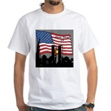 9 11 memorial Mens White T-shirts