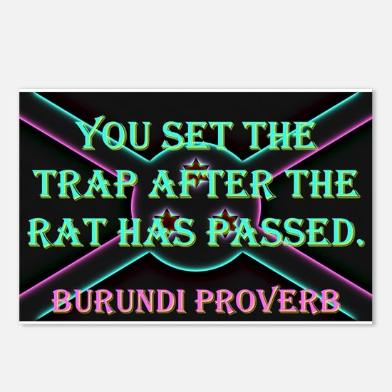 You Set The Trap - Burundi Proverb Postcards (Pack