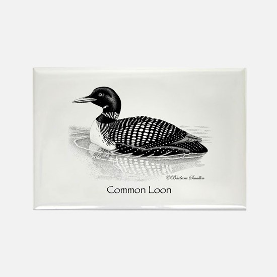 Common Loon Rectangle Magnet (100 pack)