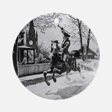 The Midnight Ride of Paul Revere Ornament (Round)