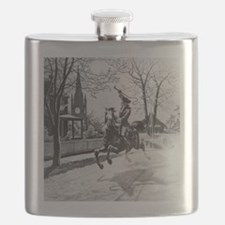 The Midnight Ride of Paul Revere Flask