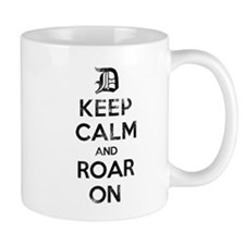 Detroit D Keep Calm and Roar On Mugs