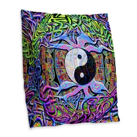 Creativity Burlap Throw Pillow