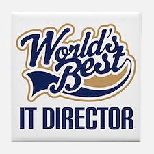IT Director (Worlds Best) Tile Coaster