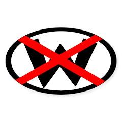 X W: Not Dubya (bumper sticker)
