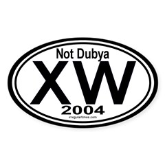 X W 2004 Oval Decal