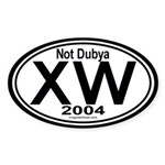 X W 2004 Oval Sticker