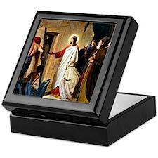 Raising of Lazarus, Carl Bloch painti Keepsake Box