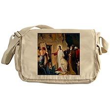 Raising of Lazarus, Carl Bloch paint Messenger Bag